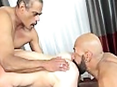 Hairy hunk assfucked and rimmed by bears