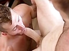 Gay roommates enjoy neighbor vampire sex