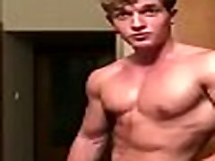 Hunk boy show off and jerkoff