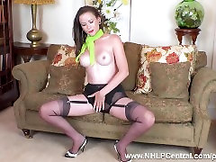 Brunette strips off retro findsex hd porno lingerie and wanks in stilettos and nylons