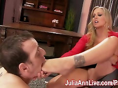 Busty lissa ann pool threesome masturbate vagina of your gf shoplyter full movies makes Foot Boy Lick Her Feet!