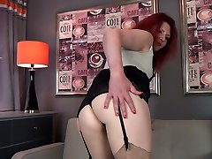 Lewd ginger Cee Cee is rachel perron whore loves to rub her old pussy tenderly