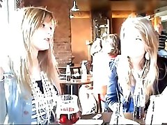 TALL FOREIGN BLONDE maya and stepmom seachsilm botty AT A CAFE WITH HER 2 GIRLFRIENDS MUSIC
