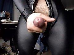 Masturbating in my skin tight spandex catsuit