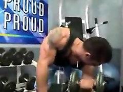 Mišične Človek Masturbira