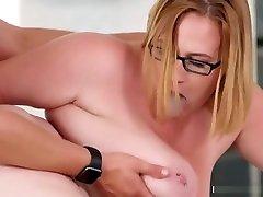 Seth Devours His Cock On Myas Gigantic Tits