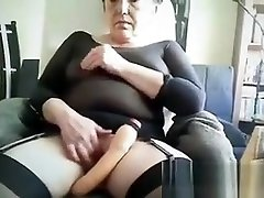 Mature Woman With Her Toy Up Close