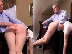 Delirious Hunter is given a bare bottom spanking for shoplifting