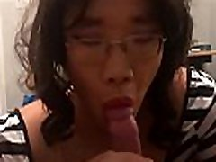 Asian Tranny sara luvv squirting Jae Anal Fucked and Cum on Ass