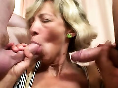 Young robbers bang mature lady