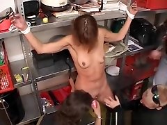 Skinny Milf Gets Pierced Pussy Gangbanged