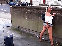 Mature Flashing Mum Outdoors