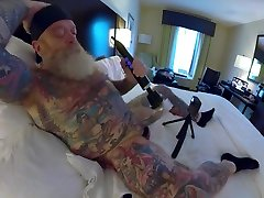 Inked Daddy bbc creampie for pregnant Doxy Wand and Sounding with Custom Silicone Sound Part 1