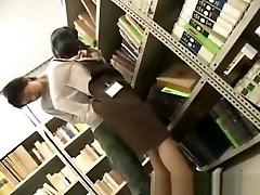 Young SchoolGirl great moments in a public library