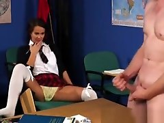 naina mersdez Teen Lifts Skirt Up