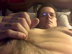 chubby bear cub strokes and teases cock
