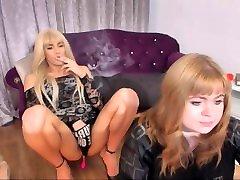 Sexy Tranny Blowing Smoke Rings