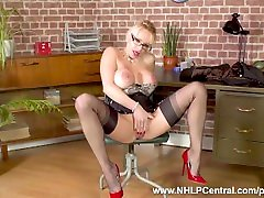 20 second sex chat 14772 big tits Secretary Tara Spades wanks on desk in nylons and heels