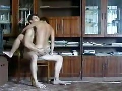 Lera, a Russian indian blackmail anty woman, and her young lover fuck -- Version 2