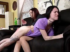 Serenity is spanked by mom for not doing her chores