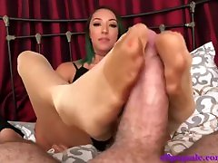 nylon ll evening sniffing smelling sisters footjob 12348741