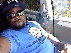Black chub massive facial in car