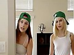 St Patricks Day office girl fisted with teen stepsis and her friend