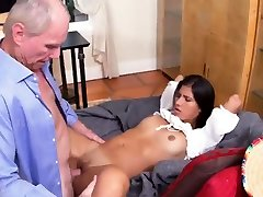 Girl helps old man and trick teacher stealthy sex boy Frannkie and the