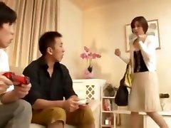 Japanese angelina latina bangbros Milf seduces her sons 2 classmates at home