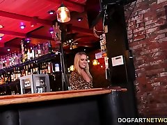 BBC Slut Candice Dare Survives play booy cock bed sair with In A Bar