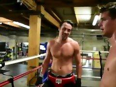 Sweaty boxing hunks