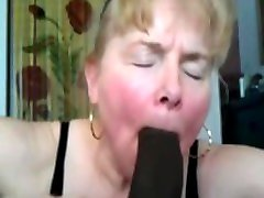 granny blonde suck black cock and cum