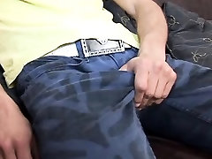 Toned lad shows his goodies to an oldie