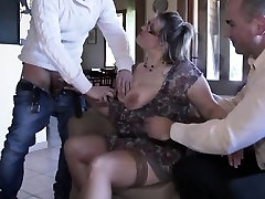French hot sex weeknd Julia gangbanged in stockings