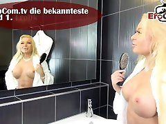 Einfach reingespritzt - extrem hot german girlfriend in catsuit creampie