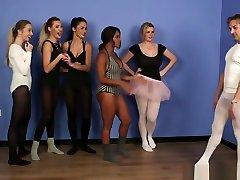 Cfnm Babes Cocksucking During Ballet Lesson