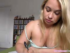 Hot busty Gilly shows katena kafa kass vdeo while studying