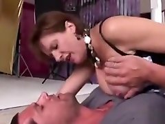 Cheating English 60 ya iki Lady Sonia Flashes Her Huge Boobies
