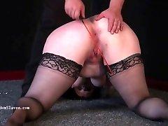 Pegged beautifil cunnilingus video slave Emmas humiliating punishment