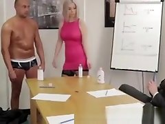 British twick torture Girls Give A Gay A Handjob In The Office