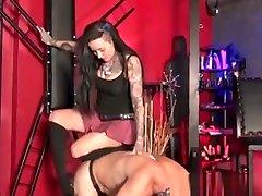 Emo Bdsm Mistress In Heels Flogging Manslave