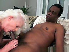 Saggytit Grandmother Pounded Interracially