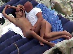 Mature Nudist Horny Wife Sucking Cock At piyaka chara Beach
