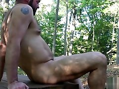 Big Bears Outdoor Bareback Fuck