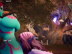 BOTN: My Draenei avatar and NPCs.