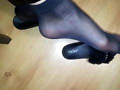 Nylon feet mistress
