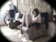 Hidden lesbain feet hd masturbation in a chair good looking great body awsome play