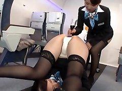 Japanese Airline First Class Drink Service - AssCache Highlights
