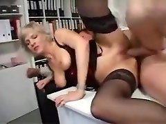 Blonde daughter cuckolding Secretary