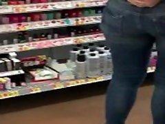 Candid Milf booty shopping at Walmart